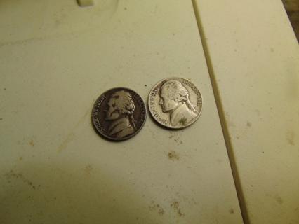 2 1941 Jefferson Nickels