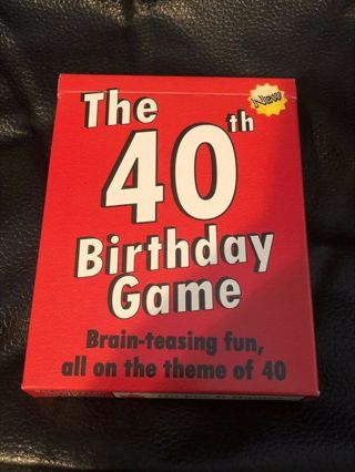 The 40th Birthday Game - Brain-Teasing fun, all on the theme of 40 - Card Game