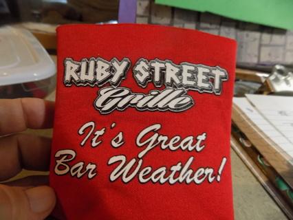 ruby Street Grille can koozi