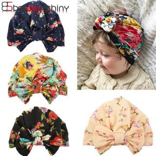 BalleenShiny Cotton Baby Beanie Hats Cartoon Florals Print Cap Child Kids Fashion Soft Elastic Hat