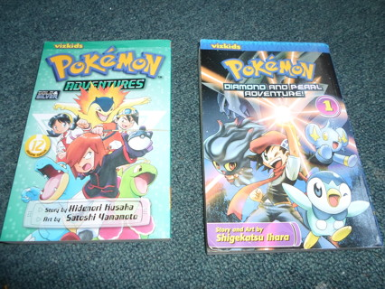 2 Pokemon Adventure Books - Comic book style