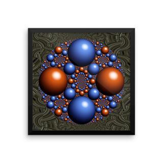 Duality - Framed Fractal Artwork by Stan Ragets