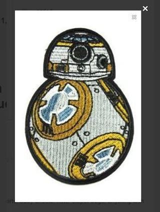 STAR WARS Iron ON Patch Droid BB-8 Robot Clothing Embroidery Applique Badge FREE SHIPPING