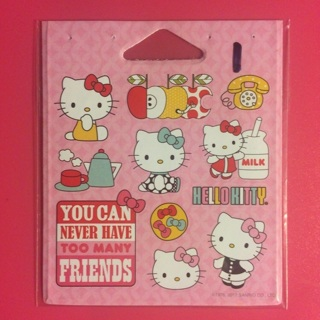 Hello Kitty Small Sticker Sheet ~ 11 TOTAL ~ NEW ~ VERY KAWAII!