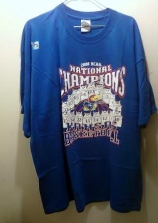 KU 2008 Championship Tshirt (NWT)