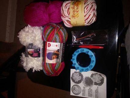 Boye Flower Loom, Yarn and Crochet Hook!!!