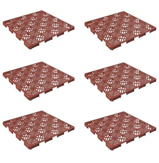 """Pure Garden 50-147 Interlocking Tiles-Multipurpose Indoor/Outdoor Flooring 11.5 x 11.5"""", Set of 6"""