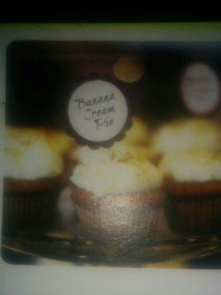Banana Cream Pie Cupcakes recipe on stock card