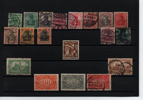 Quick page sell off - old Germany * Reich older ones Germania * some more than 100 years old