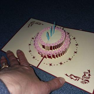 Pop up, 3D, BIRTHDAY CARD