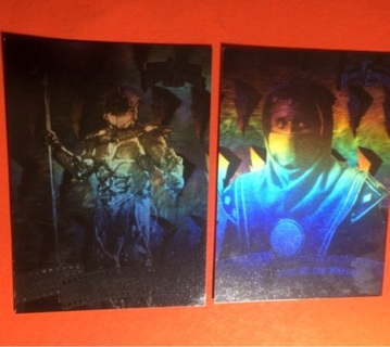 2 Holo 1995 Power Ranger Cards! 5 & 9 of 12!