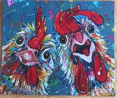 "GOOFY CHICKENS! - 4 x 5"" MAGNET"