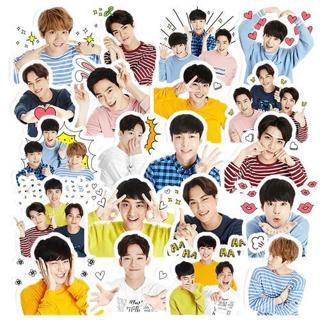20pcs Creative Cute Self-made exo Q version pretty boys Scrapbooking Stickers /Decorative Sticker