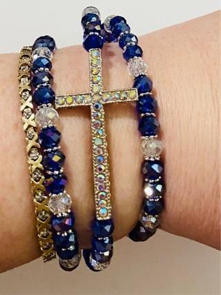 Brand New Wrap Around Cross Bracelet