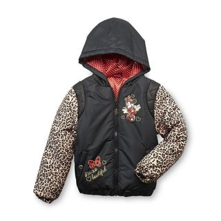 Minnie Mouse Disney Girl's Puffer Jacket Size 4/5 New with tag