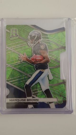 Marquise Brown RC Die cut card panini spectra 2019 #/30 a very Beautiful cool card