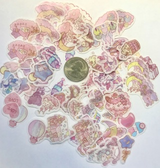 ☆※☆※☆NEW ITEM!!! ♥♥KAWAII DREAM OF THE SKY (HIGH END) STICKER FLAKES 20PC♥♥