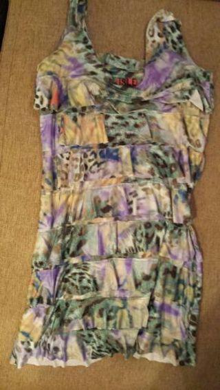 Amazing multi colored silky dress