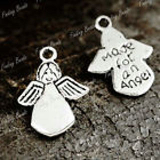 2 new silver tone Angel charms