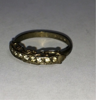 Vintage Women's Size 6.5 Antique Sterling Silver Ring (#5)