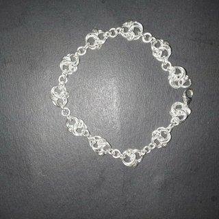 925 sterling silver celtic love knot bracelet 7.5'' handcrafted
