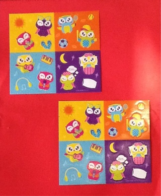 2 SHEETS OF CUTE OWL STICKERS