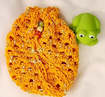 Crochet Pull String Gift Bag,OR SOAP BAG FOR SHOWER**LQQK***