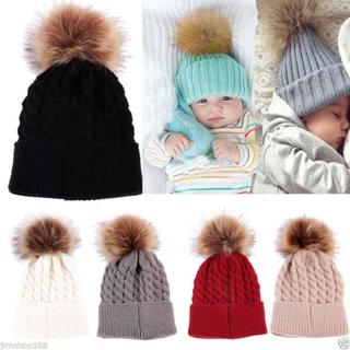 Newborn Kids Baby Boy Girl Warm Hat Knit Wool Girl Boy Hemming Crochet Ski Cap