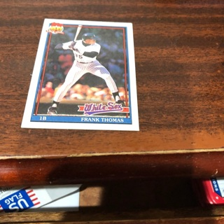 Free 1991 Topps Frank Thomas Baseball Card Sports Trading Cards
