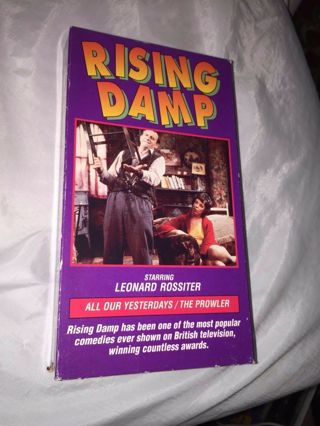 vintage RISING DAMP Leonard Rossiter ALL OUR YESTERDAYS/THE PROWLER vhs tape 1a
