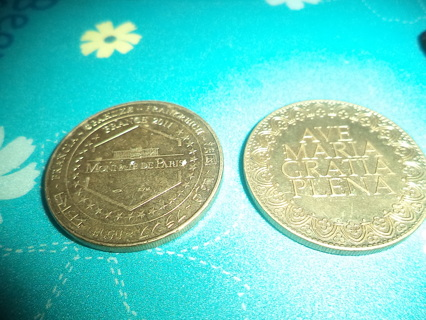 Two Coins from the Cathedral Notre Dame de' Paris