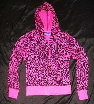 Small Pink Cheetah Hoodie
