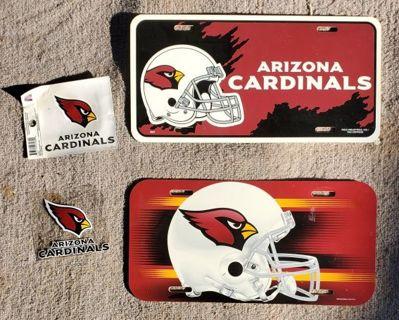 AZ Cardinals NFL Memorabilia - License Plates