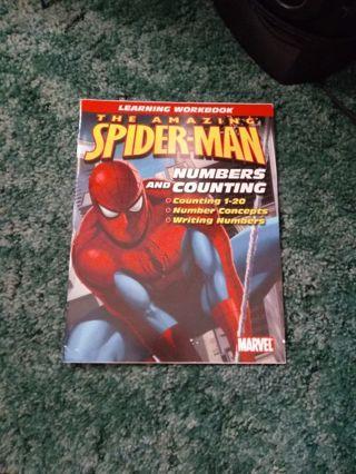 New Amazing Spiderman Preschool Math Book