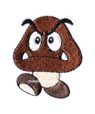 NEW Nintendo Goomba Mario Bros Embroidered Iron-On Patch