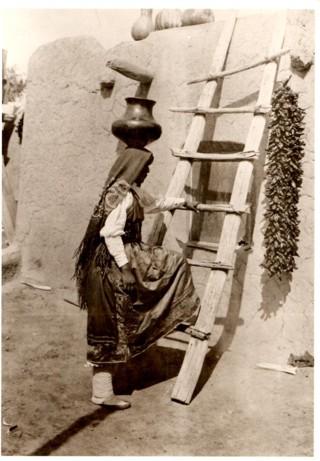 Santa Clara New Mexico Tribeswoman Postcard