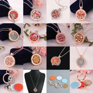 New Hollow Locket Necklace Perfume Fragrance Essential Oil Aromatherapy Diffuser