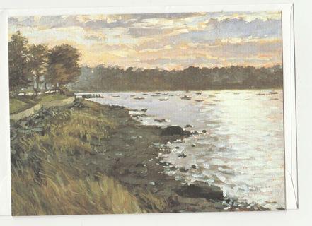 Art Note Card Unused With Envelope Blank Inside