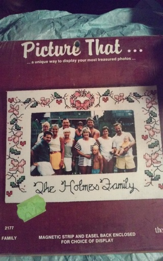Crossstich Family Frame Kit NIP