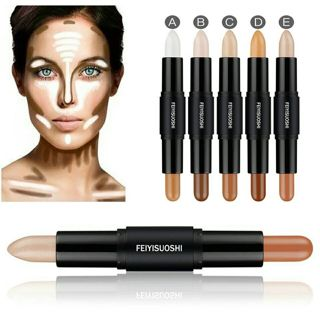 1PC Professional 2 in 1 Double-Ended Contour Sticks Concealer Highlighter Blemish Bronzer 3D
