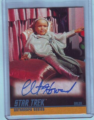 1997 Star Trek TOS Season 1 Clint Howard Autograph Card # A13