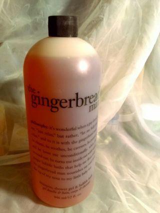 PHILOSOPHY'S GINGERBREAD MAN. SHOWER GEL/bonus with Gin