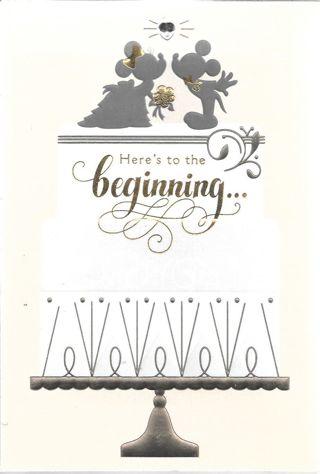 Hallmark Disney Wedding Card #1