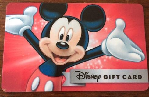 $10 Disney Gift Card
