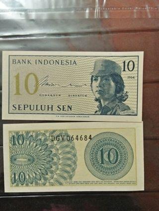 UNC - Indonesia 10 sen