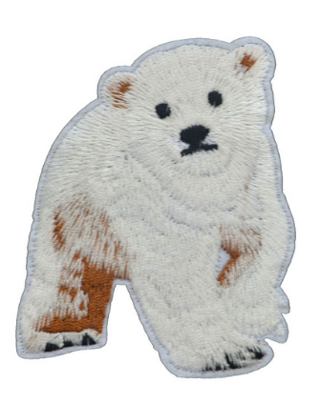1 NEW SAVE THE POLAR BEARS Iron On Patch Embroidered Applique Badge Bear Animal FREE SHIPPING