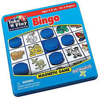 New n Metal Box Bingo Magnetic Game