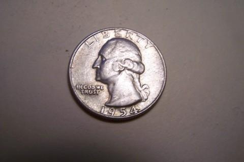 Silver 1954 Washington Quarter