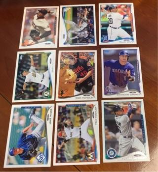 2014 Topps Baseball Update Lot