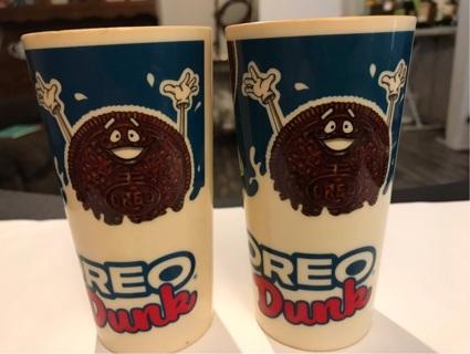 Set of 2  Vintage Oreo Dunk Plastic Cups